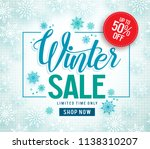 winter sale vector banner... | Shutterstock .eps vector #1138310207