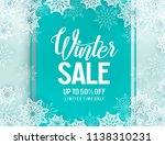 winter sale vector background... | Shutterstock .eps vector #1138310231
