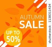 autumn sale banner design with... | Shutterstock .eps vector #1138311434