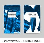 set of vector business card... | Shutterstock .eps vector #1138314581