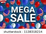mega sale poster flyer banner... | Shutterstock .eps vector #1138318214