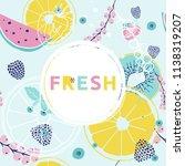 fresh summer  background.... | Shutterstock . vector #1138319207