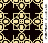 art deco pattern. seamless... | Shutterstock .eps vector #1138319531
