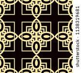 art deco pattern. seamless... | Shutterstock .eps vector #1138319681