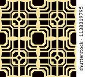 art deco pattern. seamless... | Shutterstock .eps vector #1138319795
