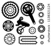 bicycles. set of bicycle parts | Shutterstock .eps vector #1138321124