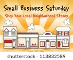 small business saturday... | Shutterstock .eps vector #113832589