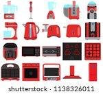 vector  set  combine  blender ...   Shutterstock .eps vector #1138326011