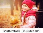autumn portrait of smiling...   Shutterstock . vector #1138326404