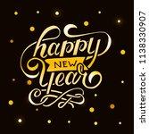 happy new year vector gradient... | Shutterstock .eps vector #1138330907