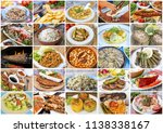turkish foods collage | Shutterstock . vector #1138338167