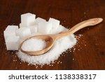 granulated white sugar in a...   Shutterstock . vector #1138338317