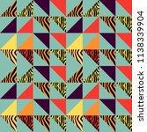 seamless triangle pattern... | Shutterstock .eps vector #1138339904