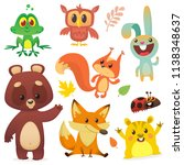 forest animals set cartoon.... | Shutterstock .eps vector #1138348637
