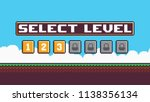 pixel art level select screen...