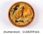 top shot of chicken biryani ... | Shutterstock . vector #1138359161