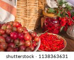 summer beautiful red food... | Shutterstock . vector #1138363631