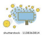 outlined garden project at... | Shutterstock .eps vector #1138363814