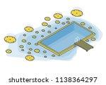 outlined isometric garden... | Shutterstock .eps vector #1138364297