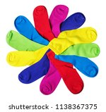 different color socks isolated... | Shutterstock . vector #1138367375