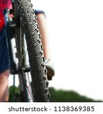 mountain bike riding isolated... | Shutterstock . vector #1138369385