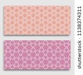 horizontal borders with... | Shutterstock .eps vector #1138374311