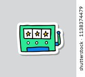 slot machine doodle sticker icon | Shutterstock .eps vector #1138374479