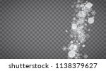 isolated snowflakes on... | Shutterstock .eps vector #1138379627