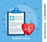checklist healthcare medical... | Shutterstock .eps vector #1138382687