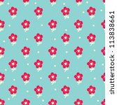 Stock vector seamless pattern with cute flowers seamless pattern can be used for wallpaper pattern fills web 113838661