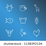 fauna icon set and fish with... | Shutterstock . vector #1138392134