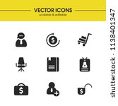 job business icons set with add ...
