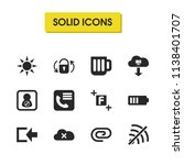 user icons set with glass ...