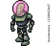vector pixel art alien space... | Shutterstock .eps vector #1138402667