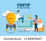 business people with start up... | Shutterstock .eps vector #1138404647