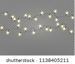 christmas lights isolated... | Shutterstock .eps vector #1138405211