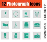 photography icon set. green on... | Shutterstock .eps vector #1138409144
