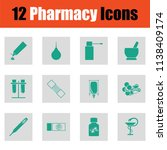 set of twelve pharmacy icons.... | Shutterstock .eps vector #1138409174