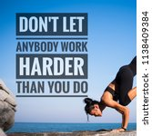 fitness motivation quotes on... | Shutterstock . vector #1138409384