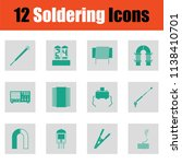 set of twelve soldering  icons. ... | Shutterstock .eps vector #1138410701