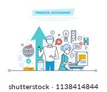 financial accountant. financial ... | Shutterstock . vector #1138414844