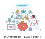 fundraising concept.... | Shutterstock . vector #1138414847
