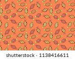 candies on seamless background. ... | Shutterstock . vector #1138416611