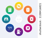 modern  simple vector icon set... | Shutterstock .eps vector #1138416821