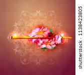 lord krishna indian god... | Shutterstock .eps vector #1138423805