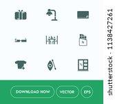 modern  simple vector icon set... | Shutterstock .eps vector #1138427261