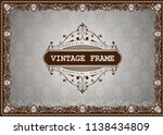decorative frame in vintage... | Shutterstock .eps vector #1138434809