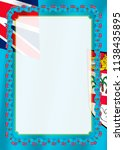 frame and border of ribbon with ... | Shutterstock .eps vector #1138435895