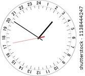 24 hours clock dial. full day... | Shutterstock .eps vector #1138444247