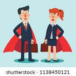 super business man and business ... | Shutterstock .eps vector #1138450121